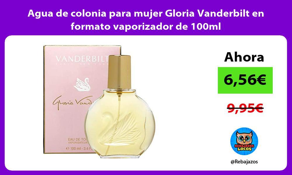 Agua de colonia para mujer Gloria Vanderbilt en formato vaporizador de 100ml