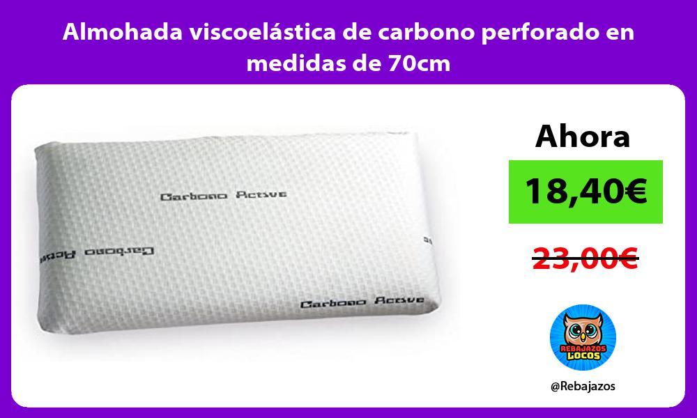 Almohada viscoelastica de carbono perforado en medidas de 70cm