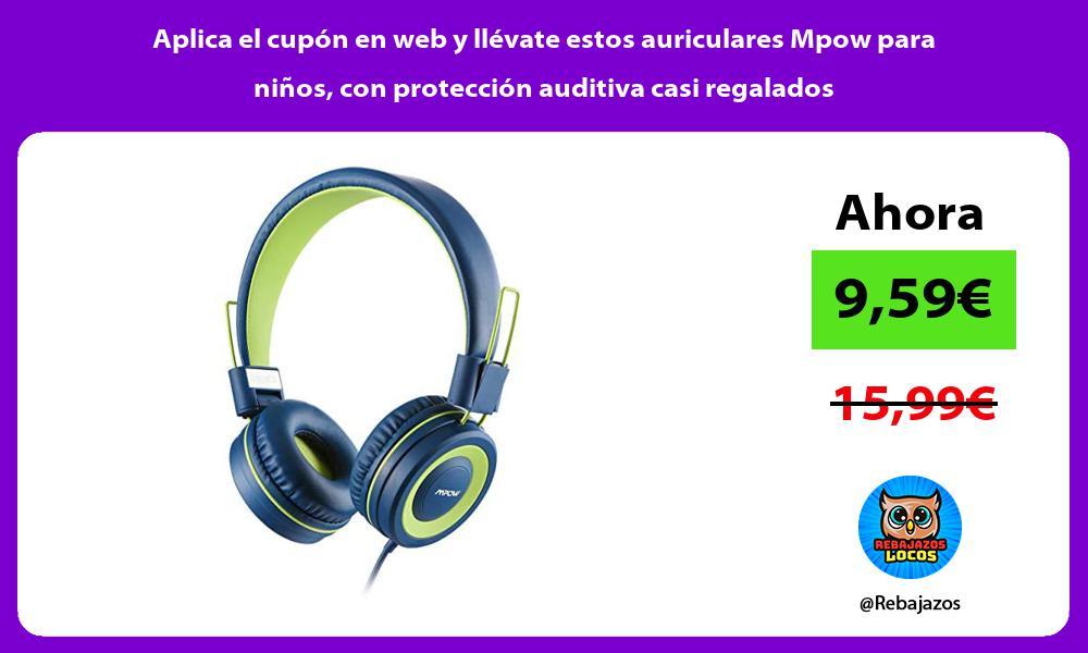 Aplica el cupon en web y llevate estos auriculares Mpow para ninos con proteccion auditiva casi regalados