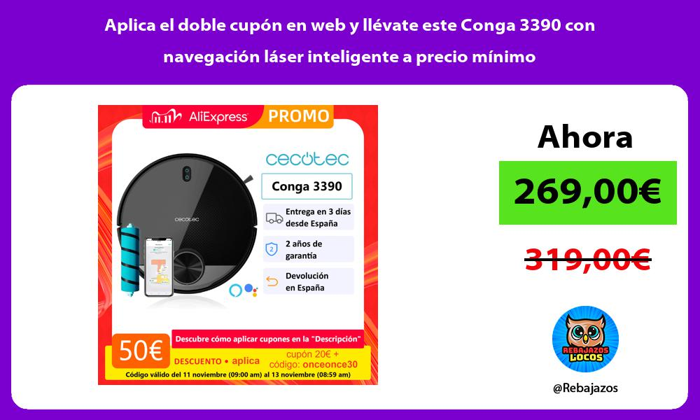 Aplica el doble cupon en web y llevate este Conga 3390 con navegacion laser inteligente a precio minimo