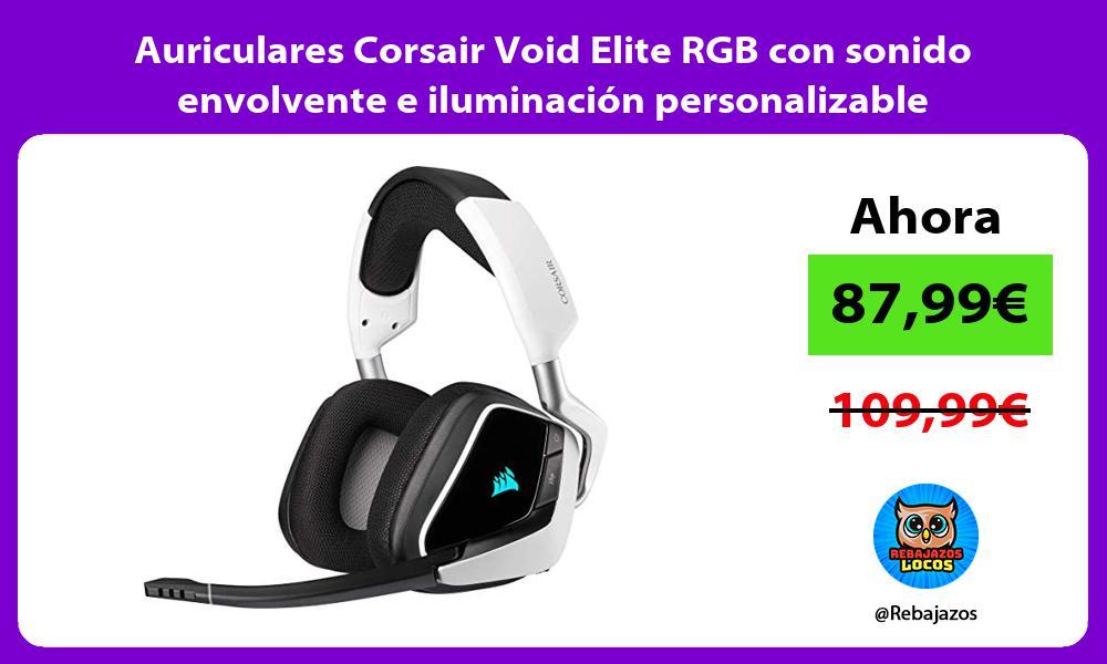 Auriculares Corsair Void Elite RGB con sonido envolvente e iluminacion personalizable