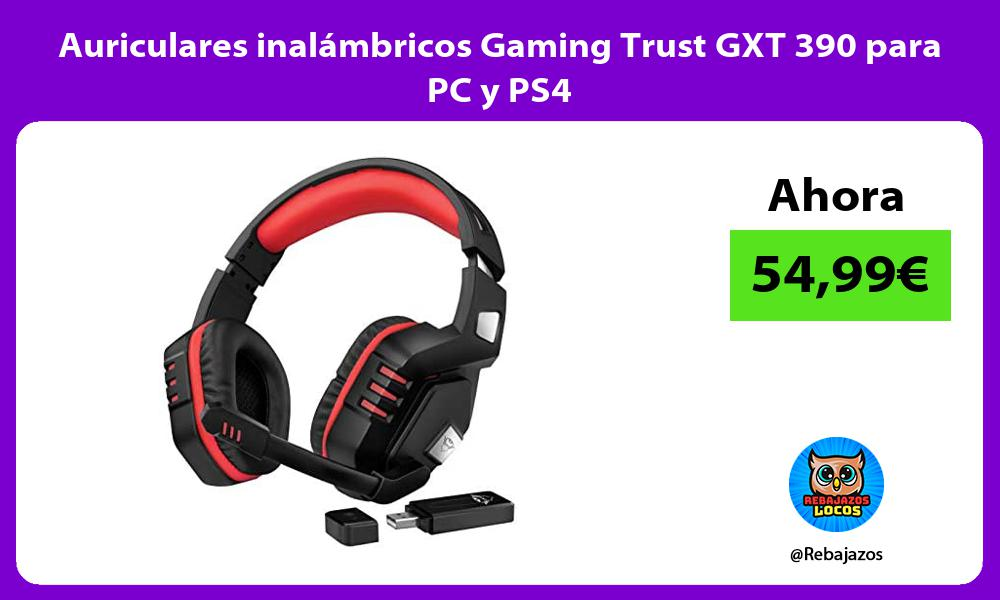 Auriculares inalambricos Gaming Trust GXT 390 para PC y PS4
