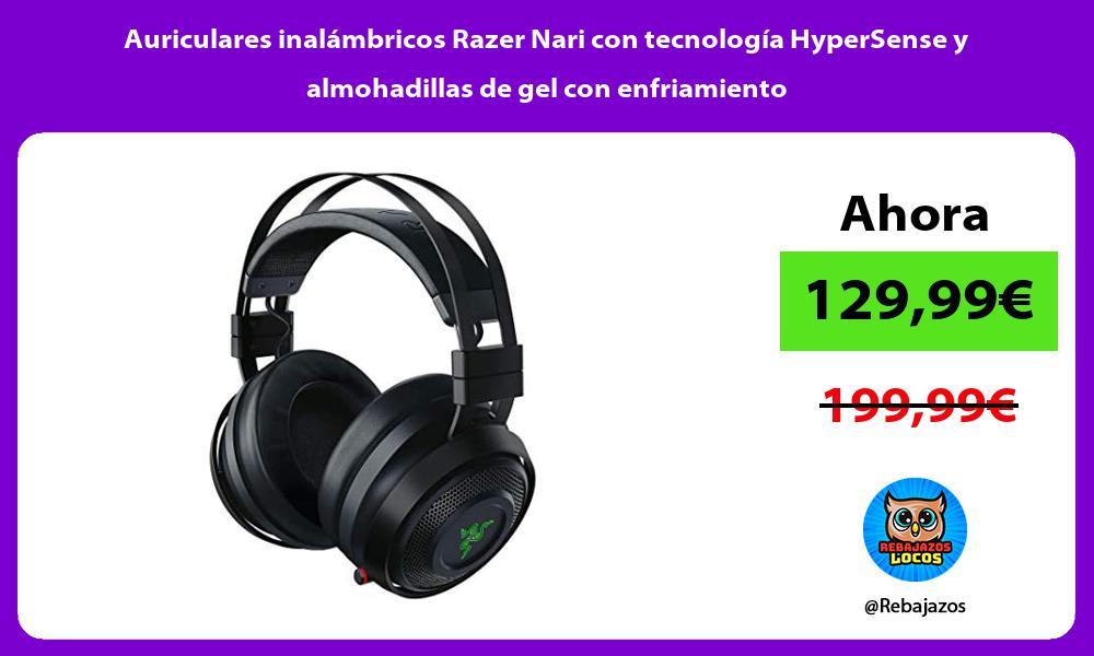 Auriculares inalambricos Razer Nari con tecnologia HyperSense y almohadillas de gel con enfriamiento