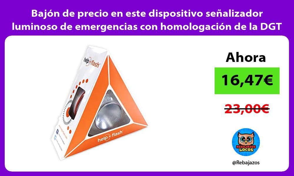 Bajon de precio en este dispositivo senalizador luminoso de emergencias con homologacion de la DGT