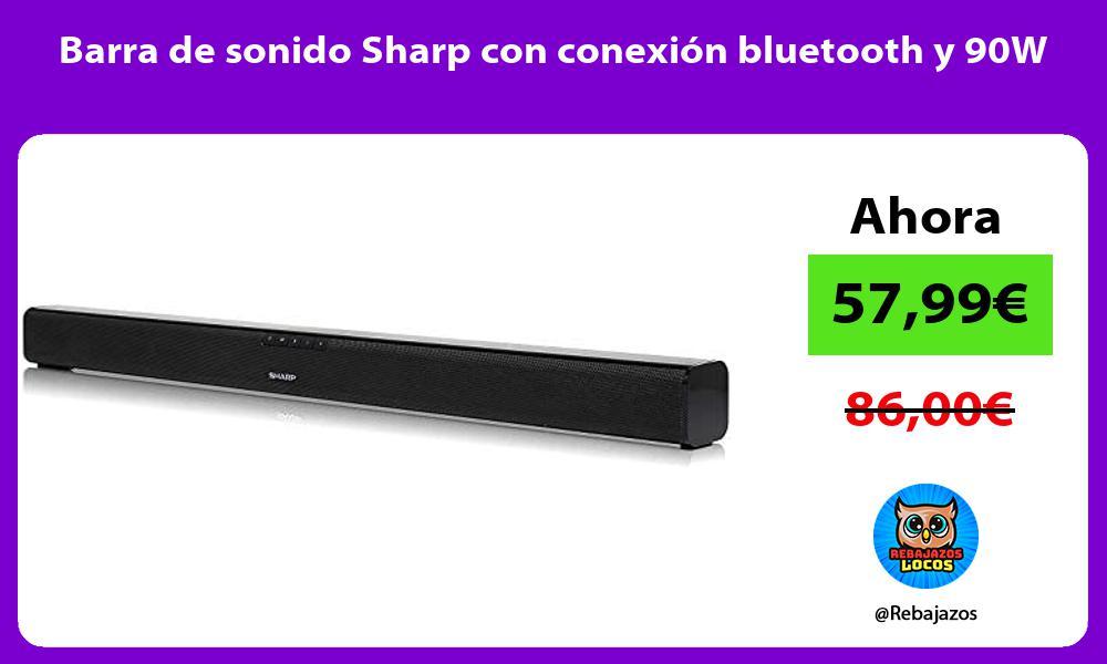 Barra de sonido Sharp con conexion bluetooth y 90W