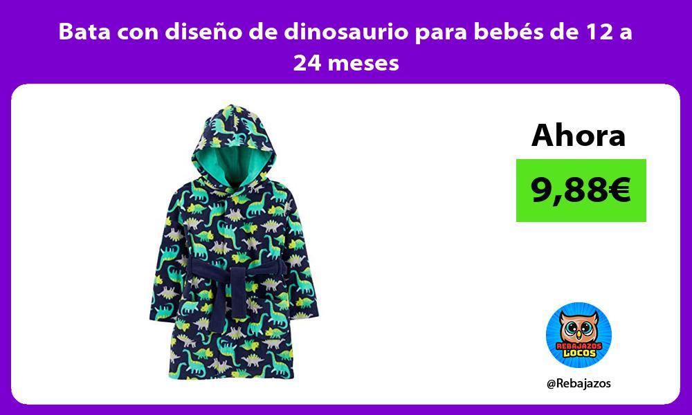 Bata con diseno de dinosaurio para bebes de 12 a 24 meses