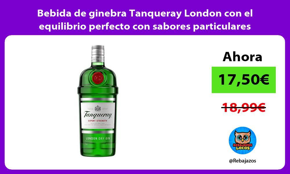 Bebida de ginebra Tanqueray London con el equilibrio perfecto con sabores particulares