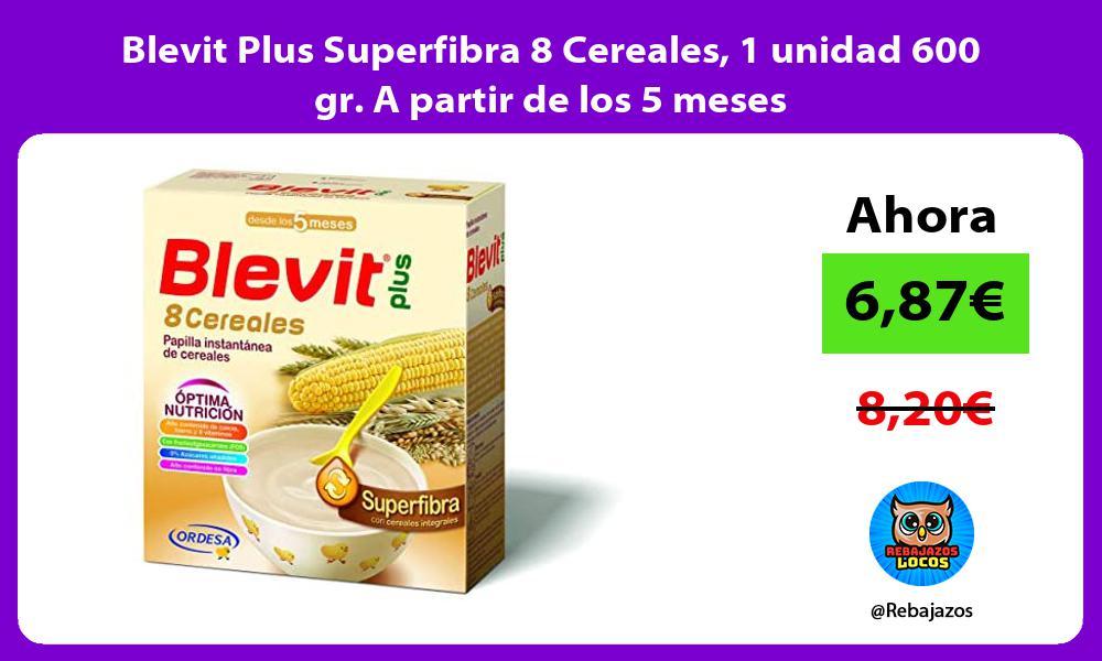 Blevit Plus Superfibra 8 Cereales 1 unidad 600 gr A partir de los 5 meses