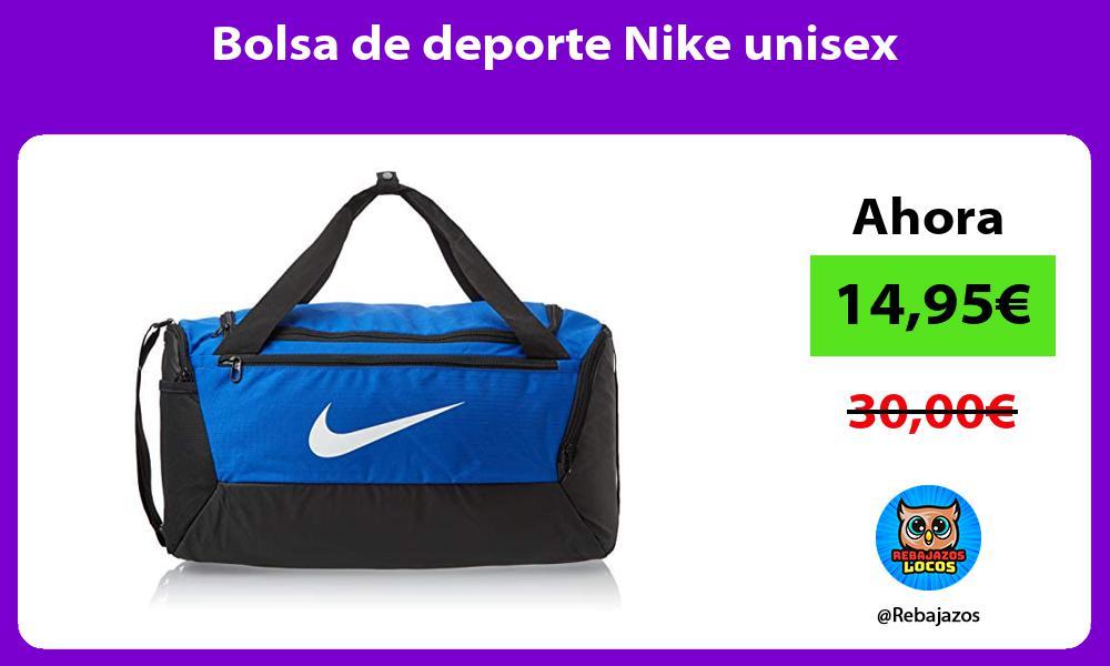 Bolsa de deporte Nike unisex