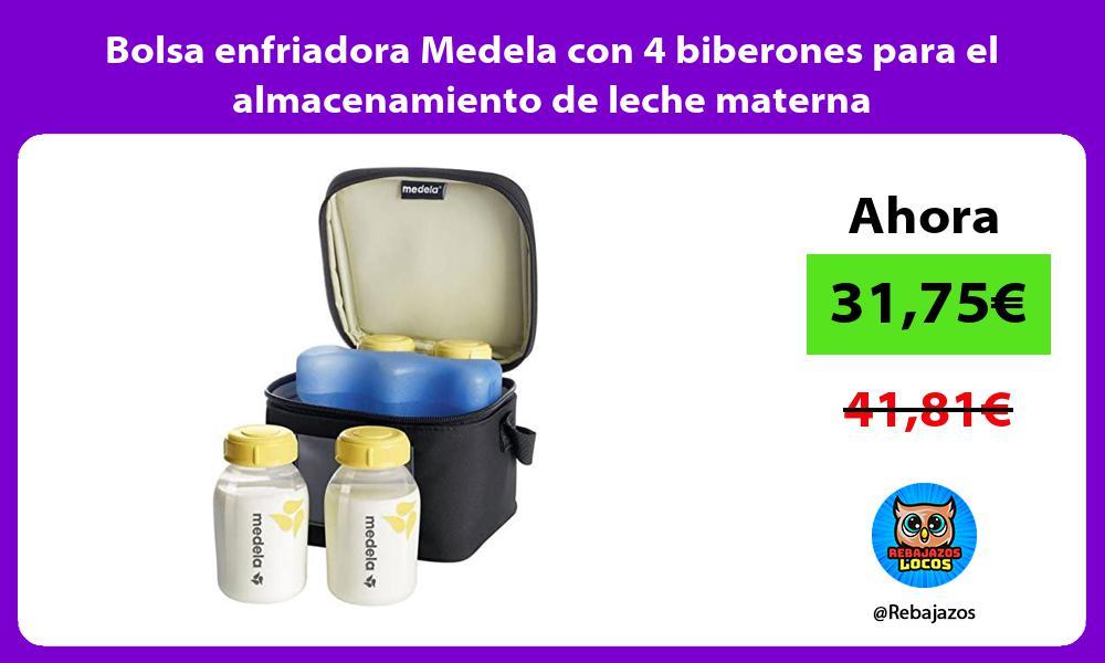 Bolsa enfriadora Medela con 4 biberones para el almacenamiento de leche materna