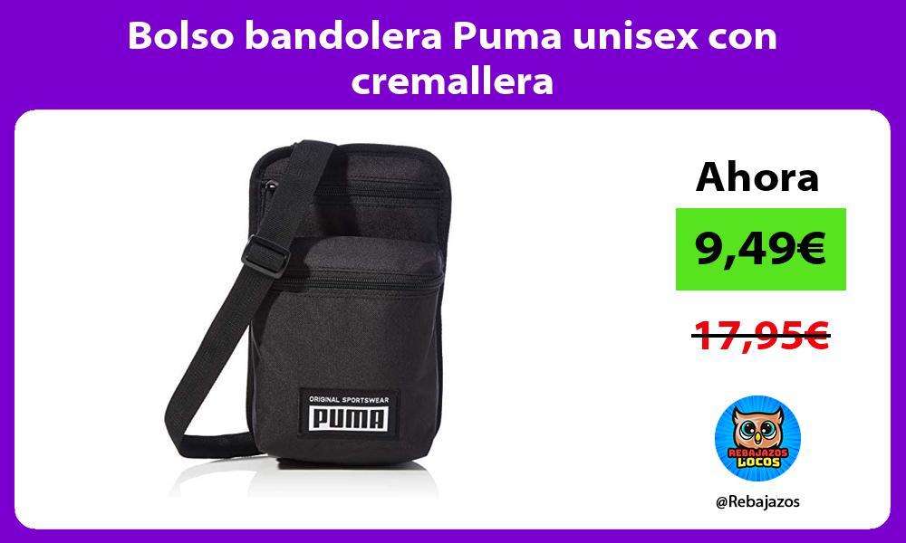Bolso bandolera Puma unisex con cremallera
