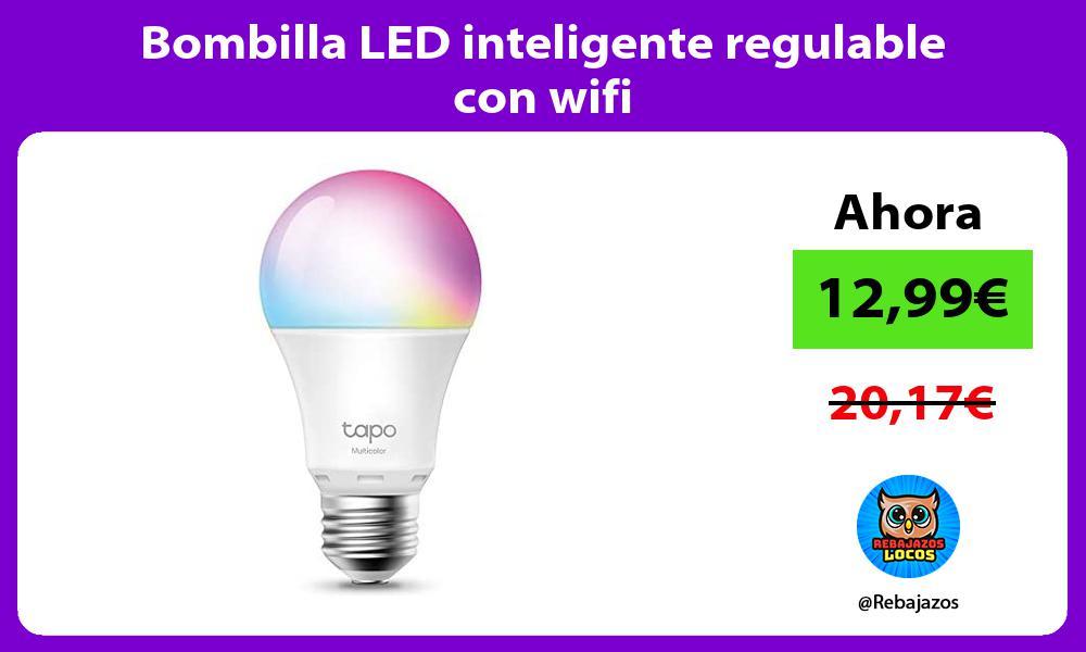 Bombilla LED inteligente regulable con wifi