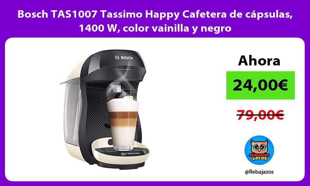 Bosch TAS1007 Tassimo Happy Cafetera de capsulas 1400 W color vainilla y negro