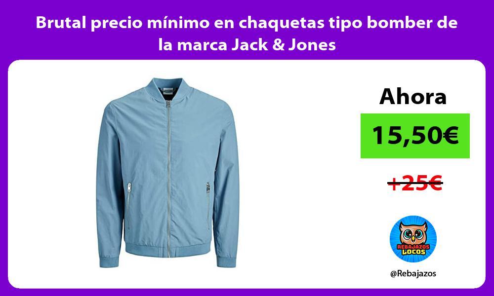 Brutal precio minimo en chaquetas tipo bomber de la marca Jack Jones