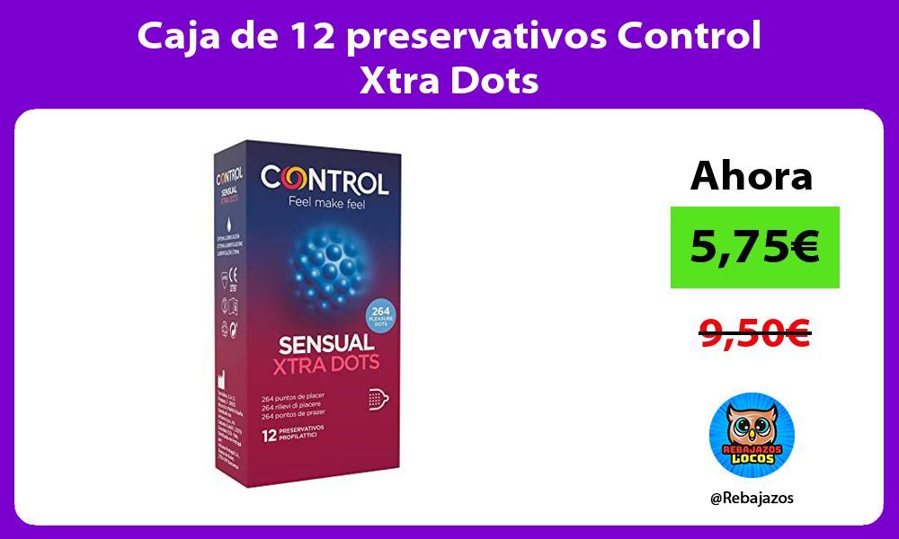 Caja de 12 preservativos Control Xtra Dots