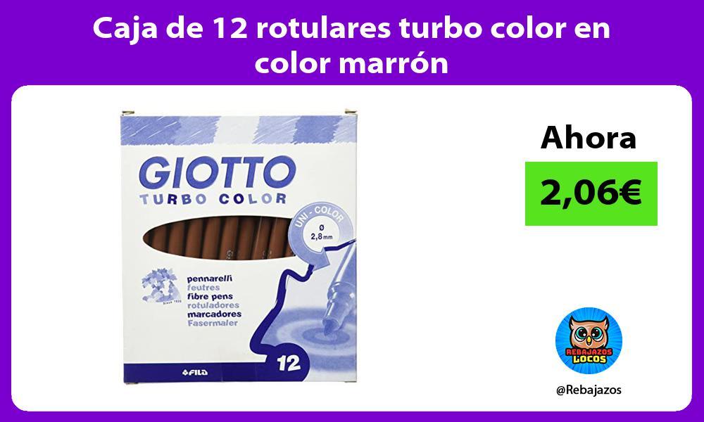 Caja de 12 rotulares turbo color en color marron