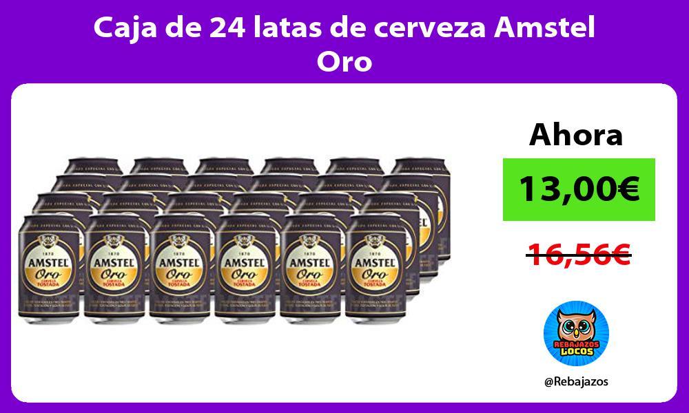 Caja de 24 latas de cerveza Amstel Oro