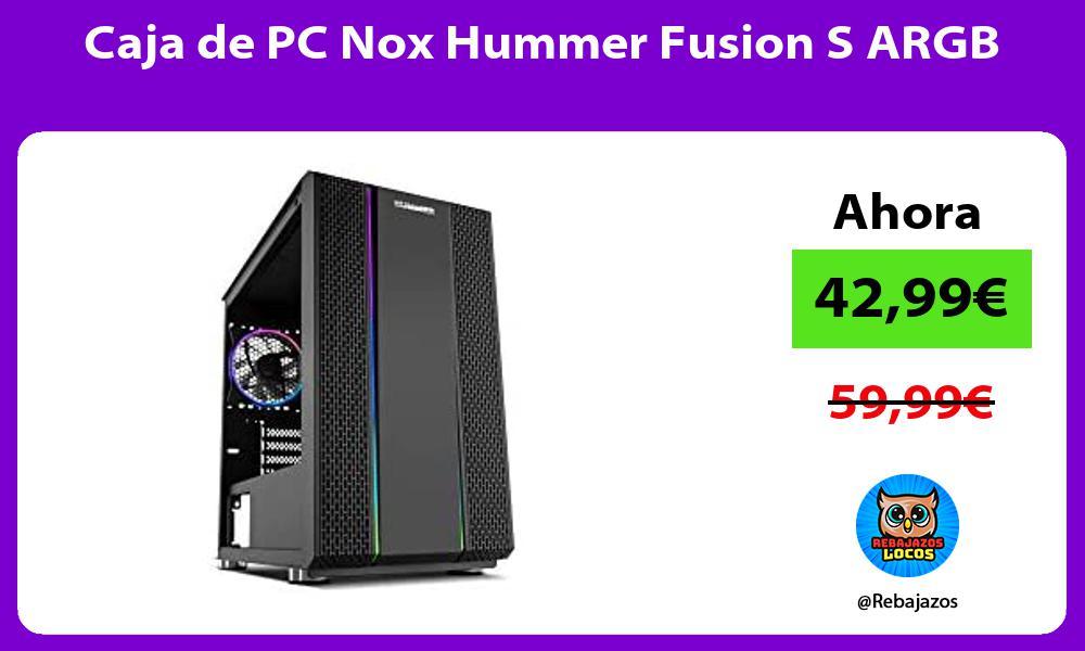 Caja de PC Nox Hummer Fusion S ARGB