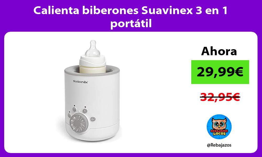 Calienta biberones Suavinex 3 en 1 portatil