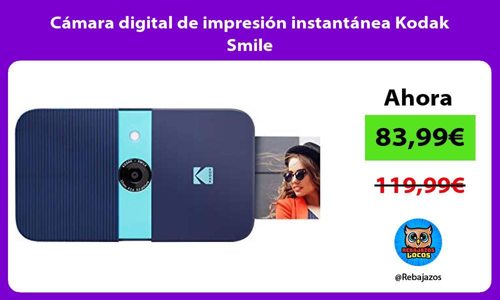 Camara digital de impresion instantanea Kodak Smile