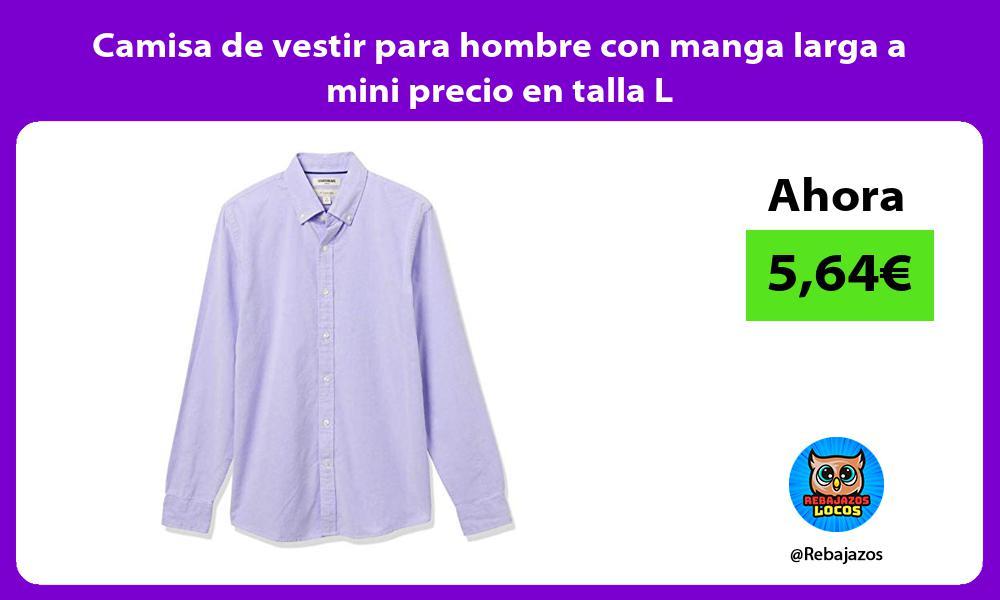 Camisa de vestir para hombre con manga larga a mini precio en talla L