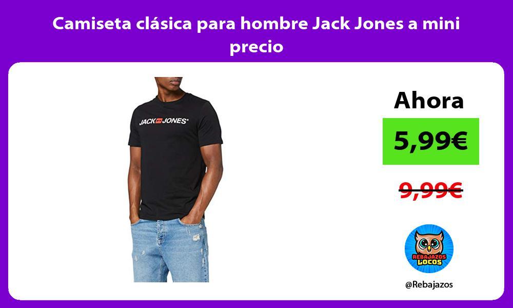 Camiseta clasica para hombre Jack Jones a mini precio