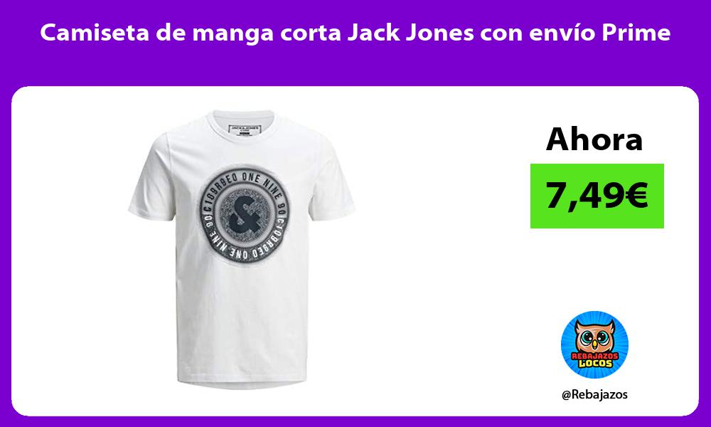 Camiseta de manga corta Jack Jones con envio Prime