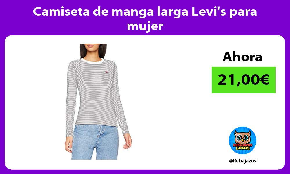 Camiseta de manga larga Levis para mujer