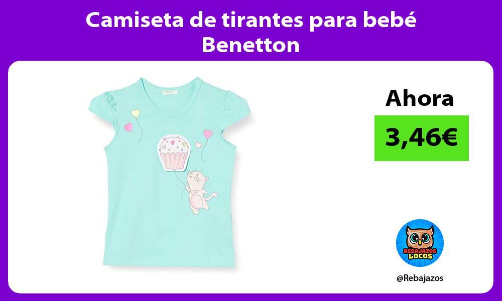 Camiseta de tirantes para bebe Benetton