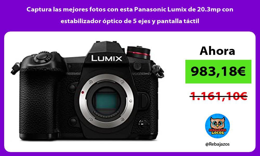 Captura las mejores fotos con esta Panasonic Lumix de 20 3mp con estabilizador optico de 5 ejes y pantalla tactil