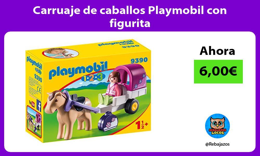 Carruaje de caballos Playmobil con figurita