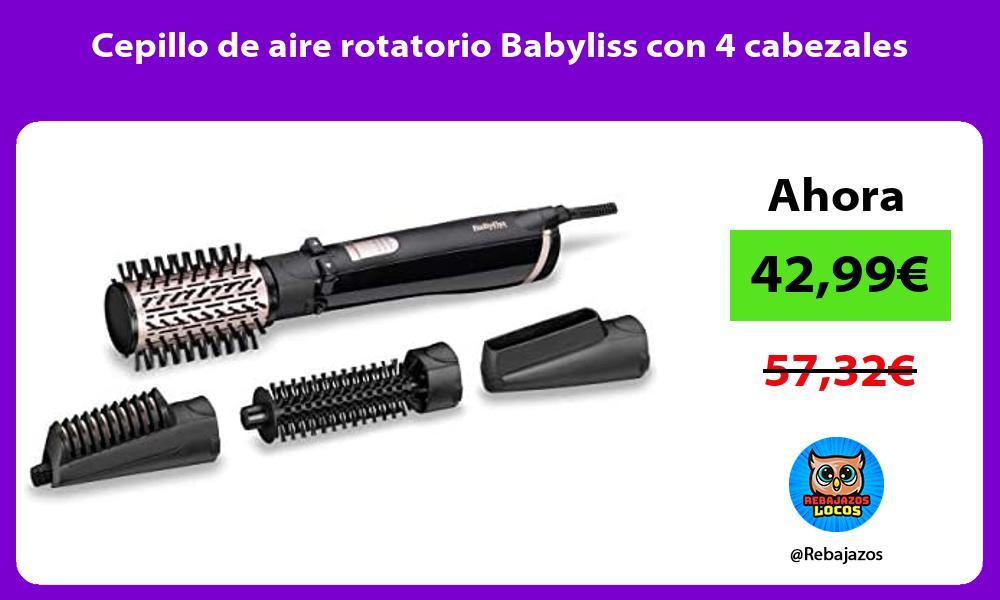 Cepillo de aire rotatorio Babyliss con 4 cabezales