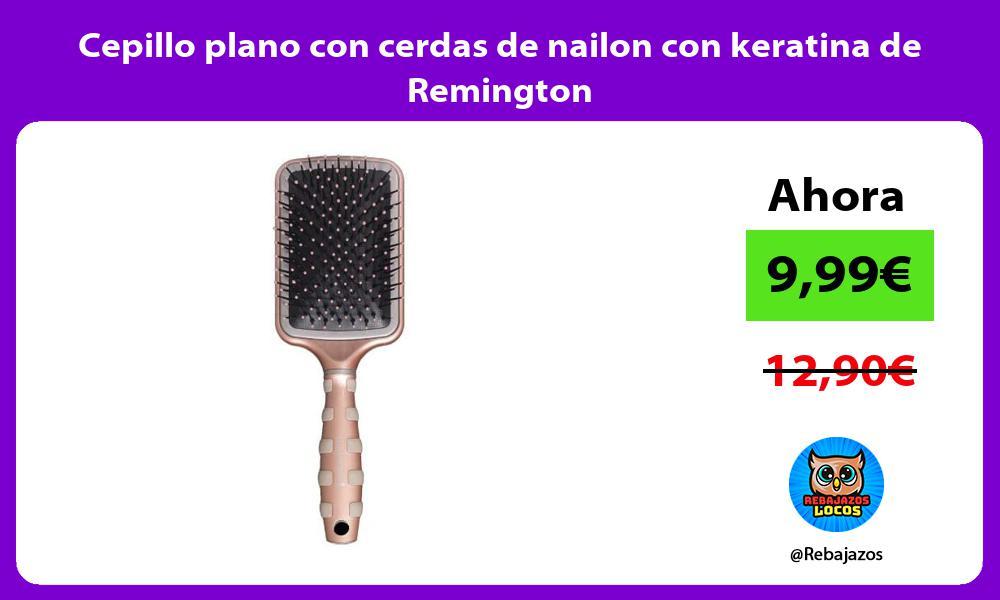 Cepillo plano con cerdas de nailon con keratina de Remington