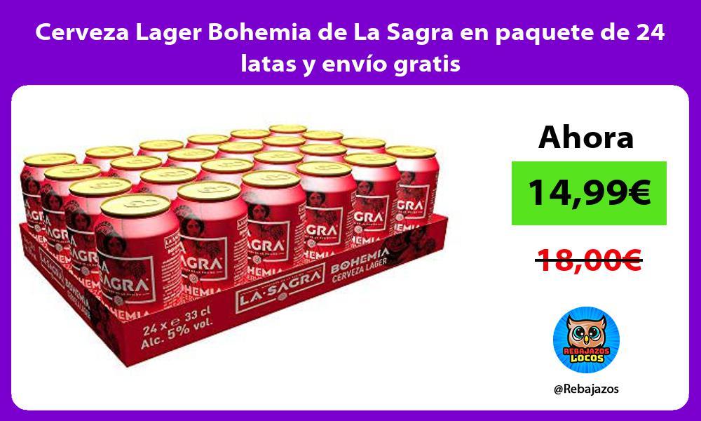 Cerveza Lager Bohemia de La Sagra en paquete de 24 latas y envio gratis