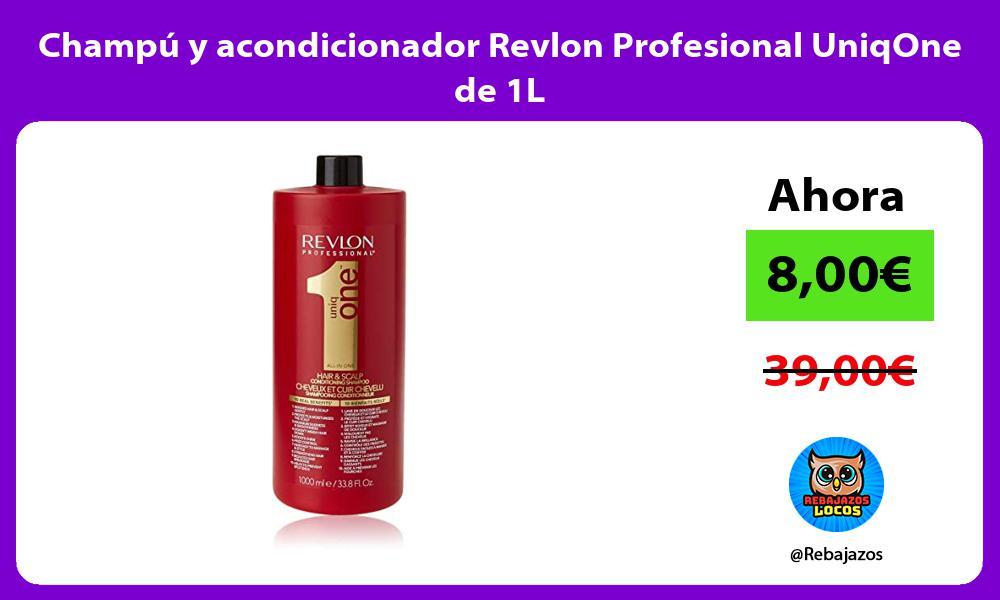 Champu y acondicionador Revlon Profesional UniqOne de 1L