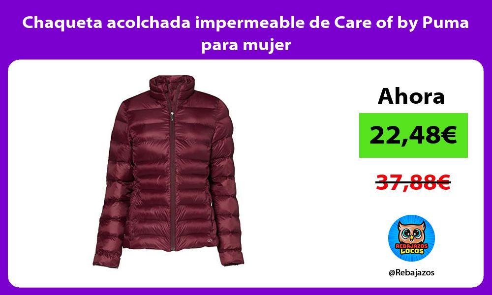 Chaqueta acolchada impermeable de Care of by Puma para mujer