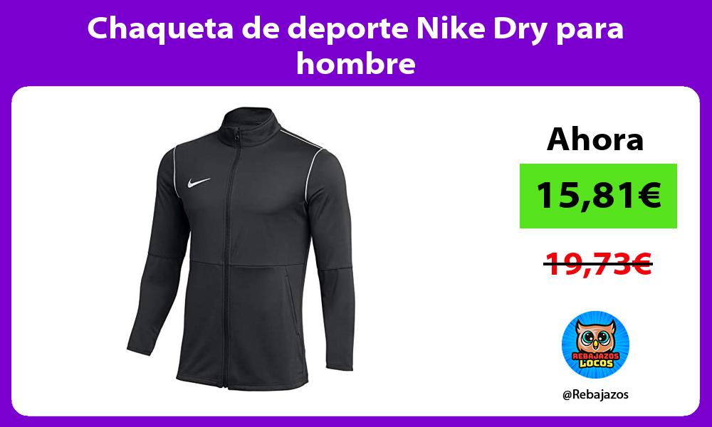 Chaqueta de deporte Nike Dry para hombre