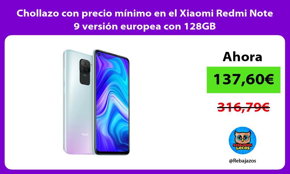 Chollazo con precio minimo en el Xiaomi Redmi Note 9 version europea con 128GB
