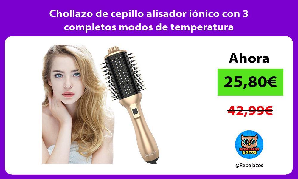 Chollazo de cepillo alisador ionico con 3 completos modos de temperatura