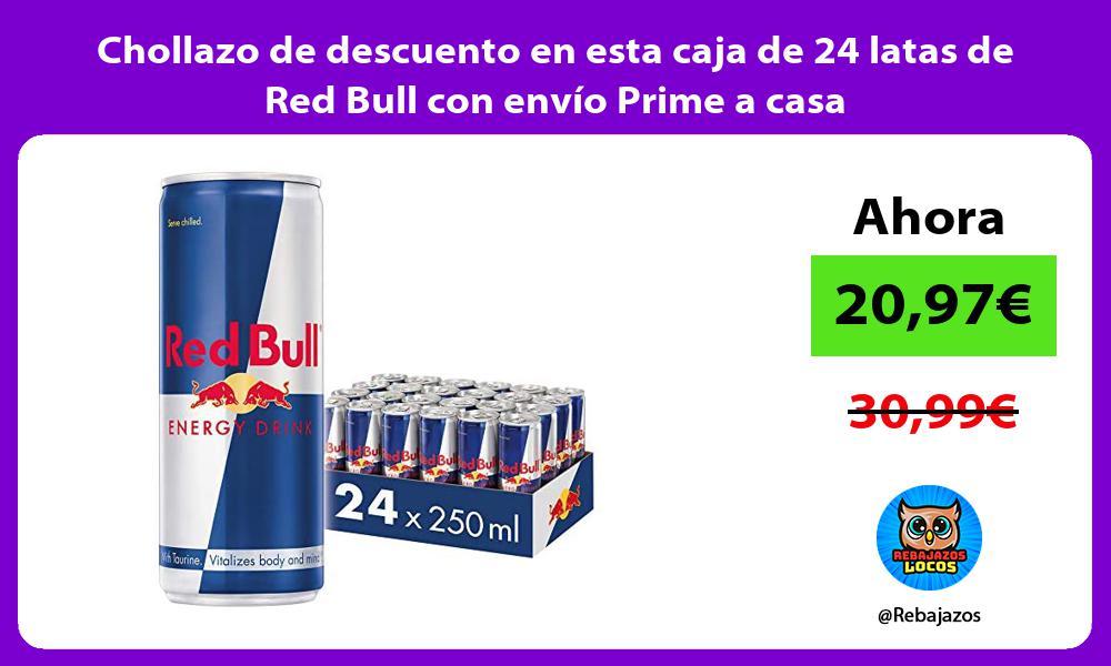 Chollazo de descuento en esta caja de 24 latas de Red Bull con envio Prime a casa