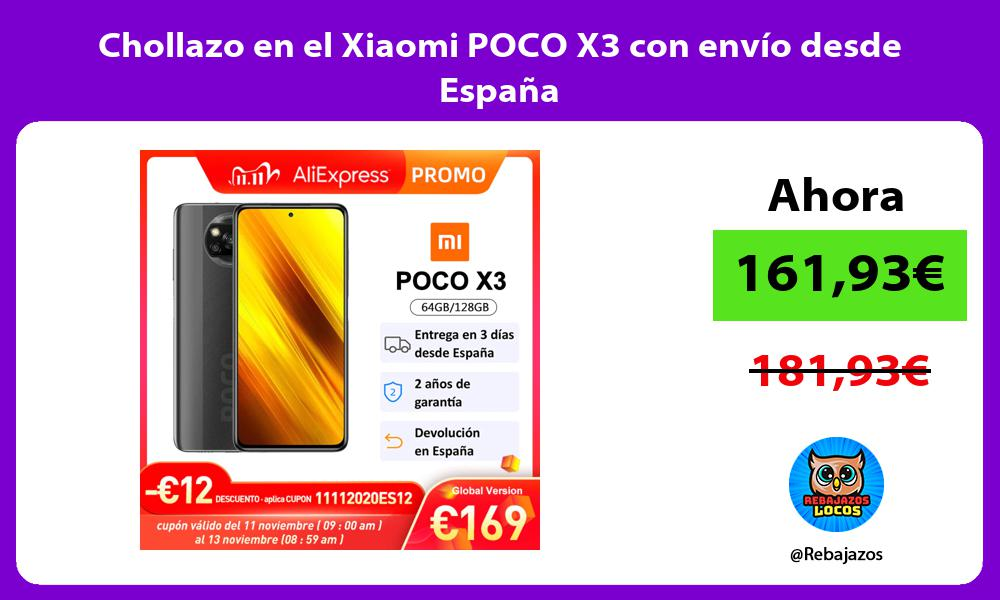 Chollazo en el Xiaomi POCO X3 con envio desde Espana