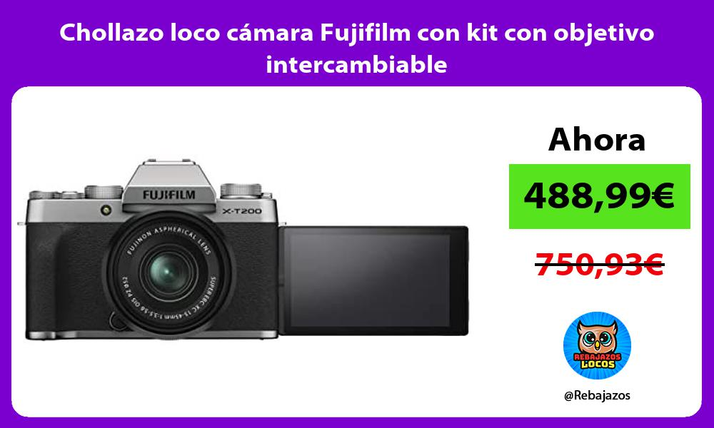 Chollazo loco camara Fujifilm con kit con objetivo intercambiable