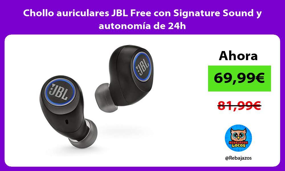 Chollo auriculares JBL Free con Signature Sound y autonomia de 24h