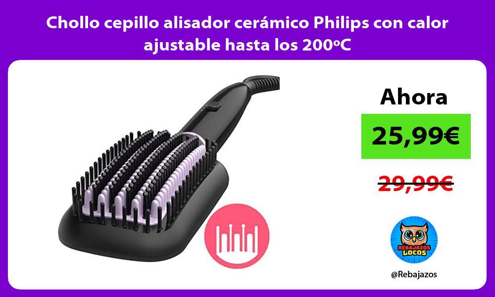 Chollo cepillo alisador ceramico Philips con calor ajustable hasta los 200oC