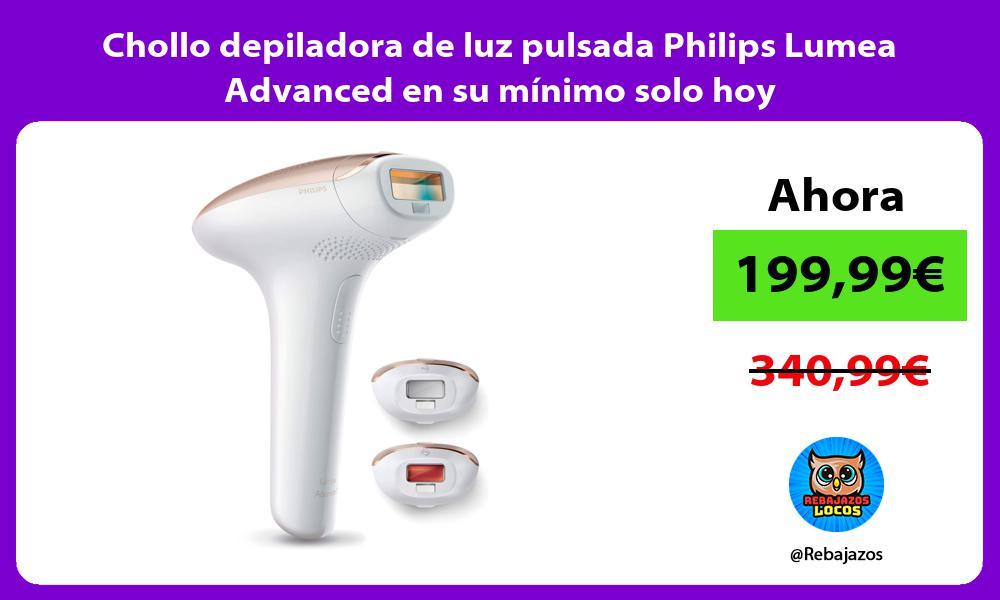 Chollo depiladora de luz pulsada Philips Lumea Advanced en su minimo solo hoy
