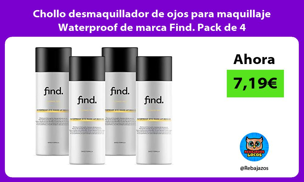 Chollo desmaquillador de ojos para maquillaje Waterproof de marca Find Pack de 4