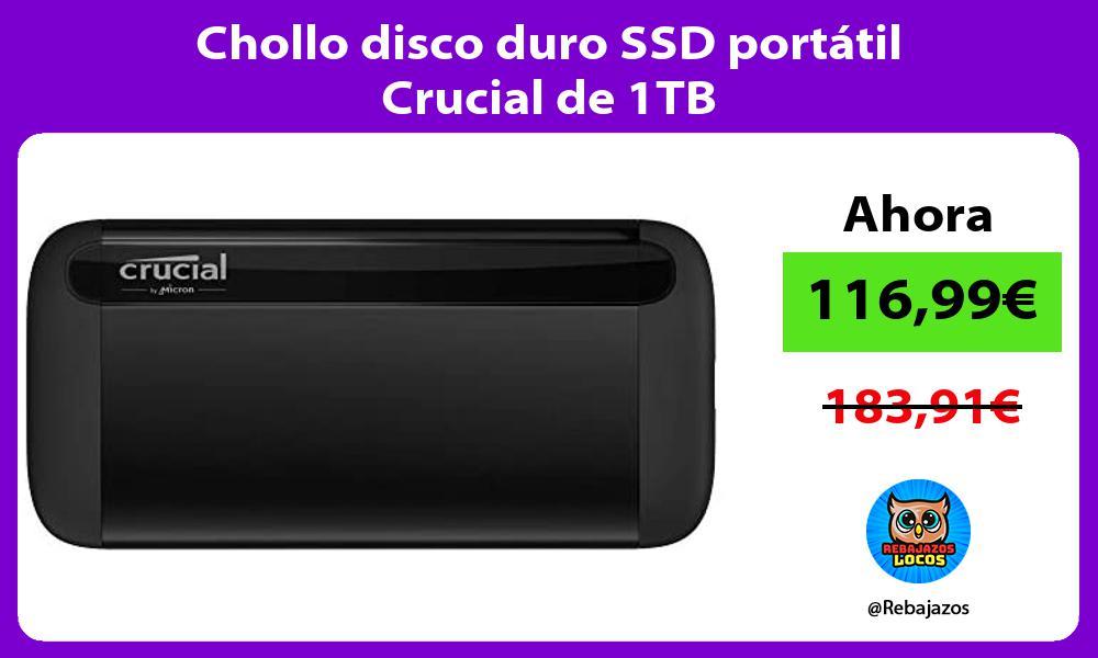Chollo disco duro SSD portatil Crucial de 1TB