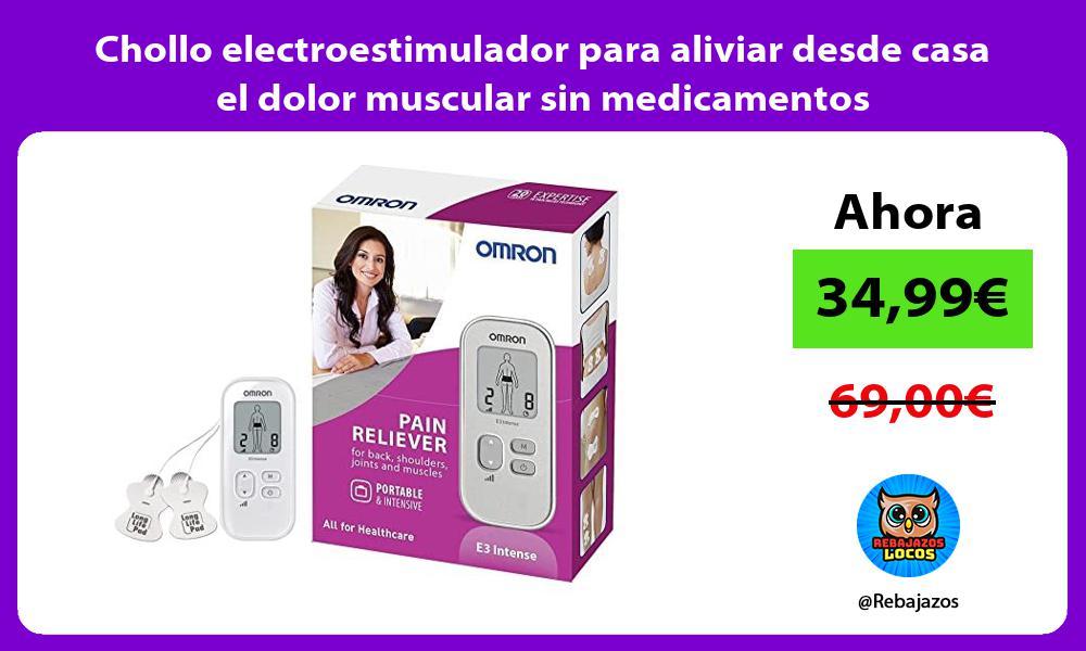 Chollo electroestimulador para aliviar desde casa el dolor muscular sin medicamentos