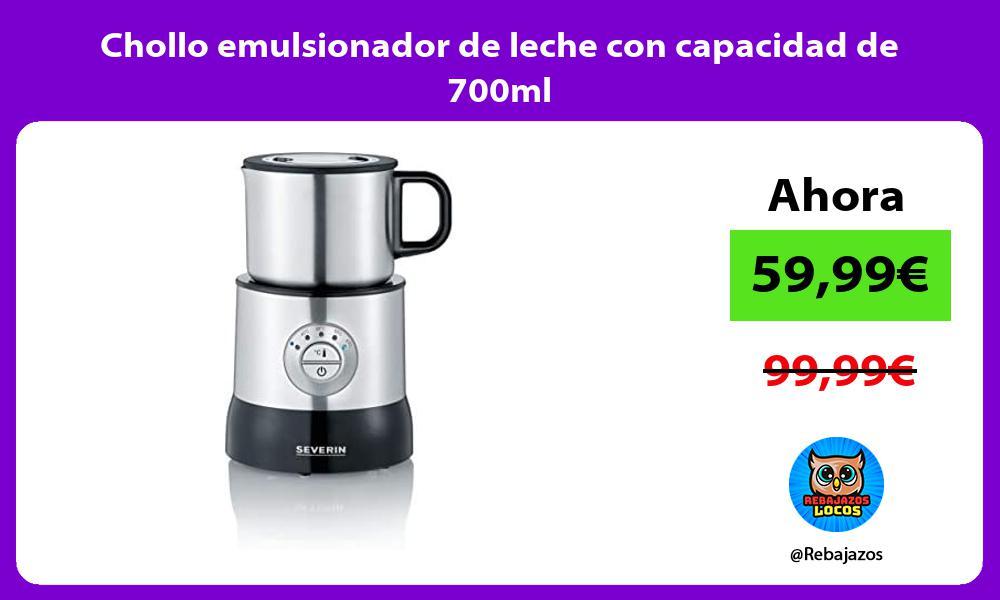 Chollo emulsionador de leche con capacidad de 700ml