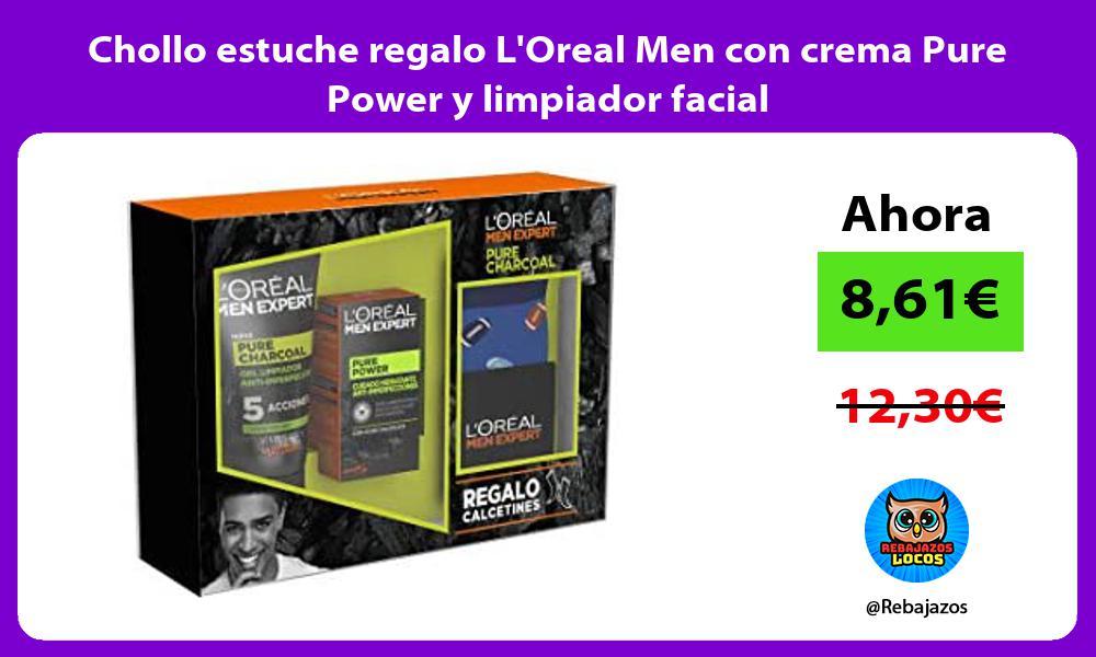Chollo estuche regalo LOreal Men con crema Pure Power y limpiador facial